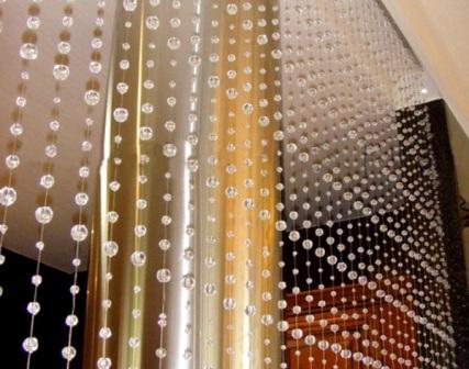 Бусины шторы видео